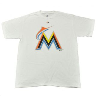 MLB Majestic Authentic Florida Miami Marlins Shirt Tee New Logo Tshirt