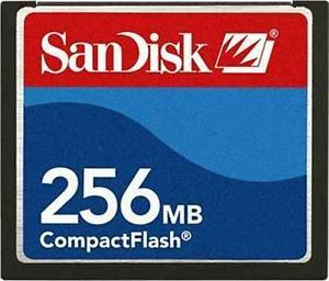 SanDisk 256MB CF Compact Flash Memory Card Blue and Red New