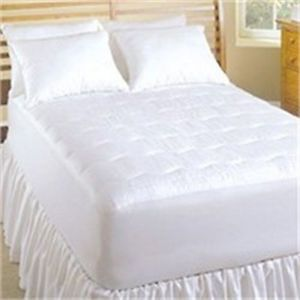 "Perfect Fit Soft Heat King Heated Mattress Pad Electric 18"" Deep 1 Side Works"