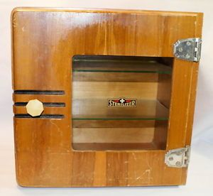 1930 s Art Deco Wood Glass Sterilizer Medicine Cabinet Sales Case Display