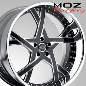 "26"" MOZ Tide Wheels Two Tone Escalade Yukon Tahoe Box Chevy Caprice Impala GMC"