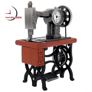 Miniature Clock Vintage Treadle Sewing Machine