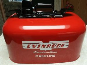 Vintage Evinrude Johnson OMC 6 Gallon 2 Line Pressure Outboard Fuel Gas Tank