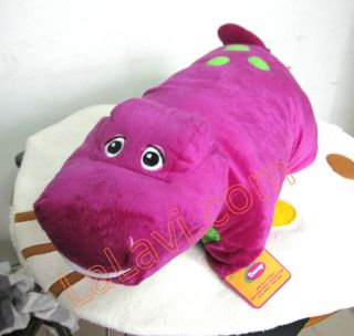 Barney Purple Dinosaur Transforming Pet Car Sofa Pillow Cushion Soft Doll Size S