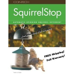 Contech Squirrelstop Automatic Spinning Squirrel Bird Feeder Deterrent Baffel