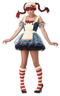 Rag Doll Raggedy Ann Teen Juniors Halloween Costume