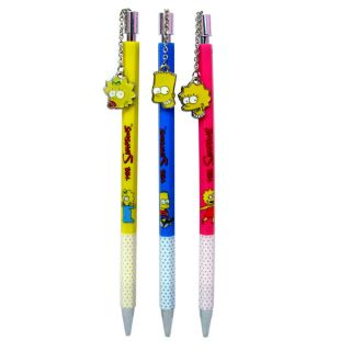 Simpsons Lisa Bart Maggie Simpson Office School Supplies Mechanical Pencil Set