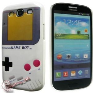 Game Boy Hard Back Case Cover Samsung Galaxy S3 SIII i9300 Free Screen Protector