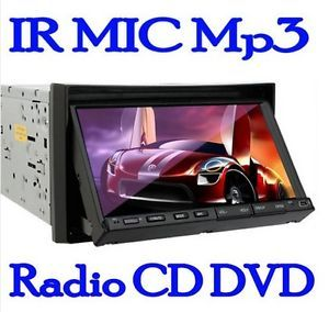 "2 DIN 7"" in Dash Car DVD CD VCD Am FM  4 Player Stereo Radio Touch Screen USB"