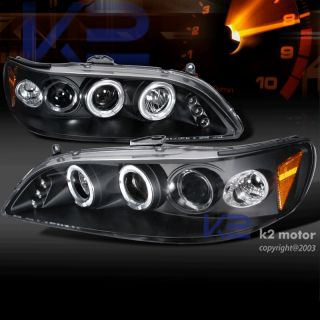 1998 2002 Honda Accord Black LED Projector Headlights