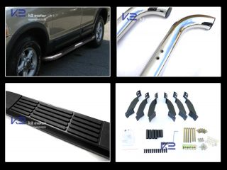 "02 05 Ford Explorer 4 Door 3"" Chrome SS Side Step Nerf Bar Running Boards"