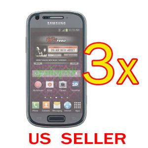 3X Samsung Galaxy Prevail 2 Ring M840 Clear LCD Screen Protector Cover Film