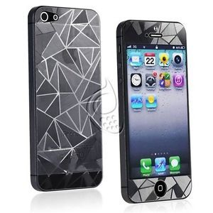 3D Front Back Premium Diamond Anti Glare Screen Protectors for Apple iPhone 5