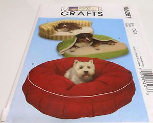 McCalls Crafts 5287 Dog Pet Beds Sofa Sewing Pattern