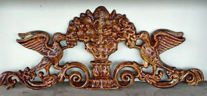 Cast Iron Metal Bird Fruit Bowl Decorative Wall Frieze Home Garden Outdoor Decor