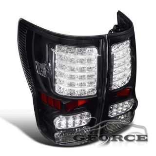 2007 2012 Toyota Tundra LED Black Tail Lights Rear Lamp