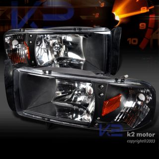 1994 2001 Dodge RAM 1500 LED Signal Blk Headlights Set