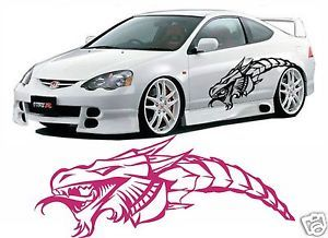 Vehicle Car Truck Boat Decal Vinyl Graphics Dragon Head Tribal 3 Feet Long