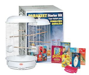 Living World Parakeet Starter Kit Bird Cage White C