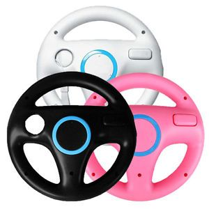 3X Mario Kart Game Steering Wheel for Nintendo Wii Controller Black White Pink
