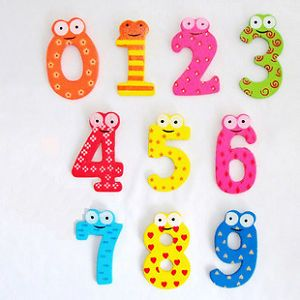 10pcs Number 0 9 Wooden Fridge Magnets Child Educational Toy Set Kid Gift Mini