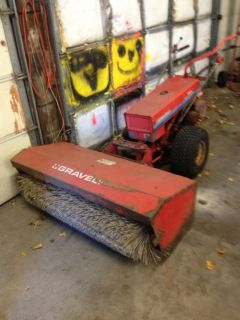 Gravely Tractor Professional 5665 with Sweeper Attachment 12 5HP