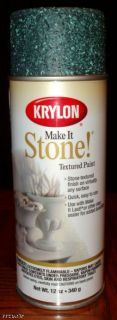 Krylon Make It Stone Textured Spray Paint Mediterr Reef