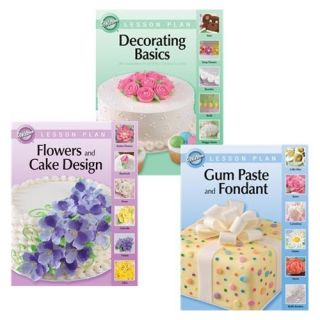 Wilton Cake Decorating Lesson Books New Setof 3