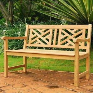"New Beautiful 48"" Teak Wood Park Bench Seat Outdoor Patio Deck Furniture Seating"