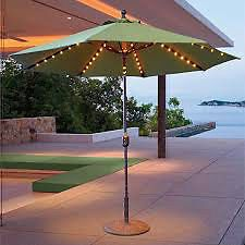 Dayva Night Lights Battery Operated LED Umbrella Lighting Patio