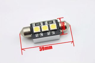 2X Canbus 39mm 3 LED White Number Plate Light for Mercedes W164 ML350 Ml