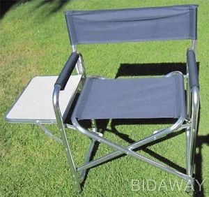 Folding Camping Outdoor Directors Chair with Side Picnic Table