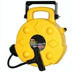 Bayco Professional 15 Amp 50 Foot Retractable Cord Reel 4 Outlets SL 8904 New