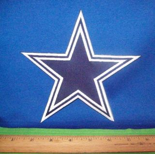 "Dallas Cowboys NFL Football Sew or Iron on Huge 7"" Star Logo Emblem Jacket Patch"
