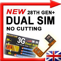 New 3G UMTS Dual Twin Sim Card Adaptor No Cutting UK