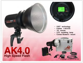 400W 3G Wireless Portable Studio Flash Lighting Kit with Remote Battery S346