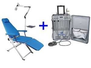 All in One Dental Portable Turbine Delivery Unit Air Compressor Portable Chair
