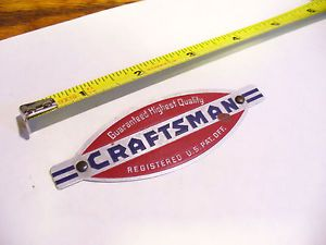 1930's Vintage Craftsman Logo Badge for Tool Box Power Tools Saw Drill Case