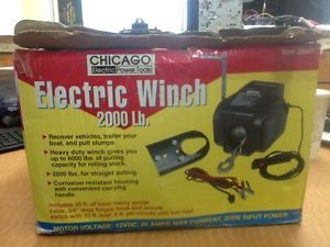 Chicago Electric Power Tools Electric Winch 2000lb Item 39997