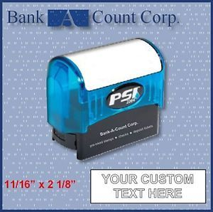 4 Line Address or Custom Text Pre Inked Stamp