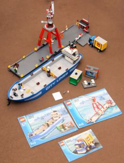 Lego City Harbour Set 7994 with Crane Dock Truck Minifigures Complete Boxed