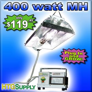 400 Watt MH Grow Light System 400W Metal Halide w Sun