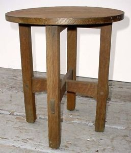 Antique Gustave Stickley Mission Oak Arts Crafts Taboret Plant Stand N R