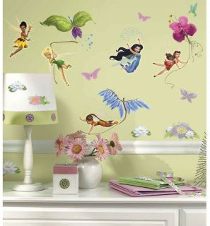 30 Disney Fairies Tinkerbell Glitter Room Decor Wall Decals Stickers Stick UPS