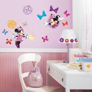 33 Disney Minnie Mouse Bow tique Daisy Kids Decor Wall Decals Stickers Stick UPS