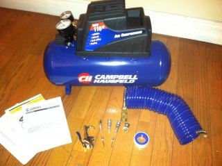 Portable Air Compressor 3 Gallon Tank Campbell Hausfeld FP209499