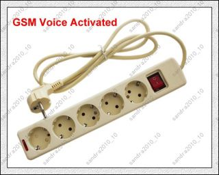 New Quadband Sound GSM Voice Activated Sim Card Spy Ear Bug SMS Control Socket