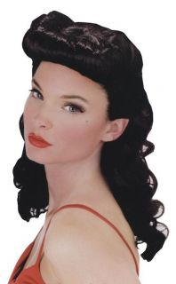 Burlesque Beauty 20s 40s Pin Up Black Women Costume Wig