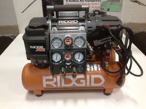 Ridgid Tri Stack 5 Gal Portable Electric Steel Orange Air Compressor Used