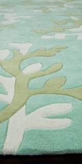 Area Rugs Transitional Hand Tufted Turquoise Blue 2'x3' 22537 Jay